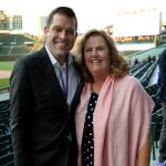 Rob Johnson with Anixter Center Board of Directors Chair Mary M. McDonnell