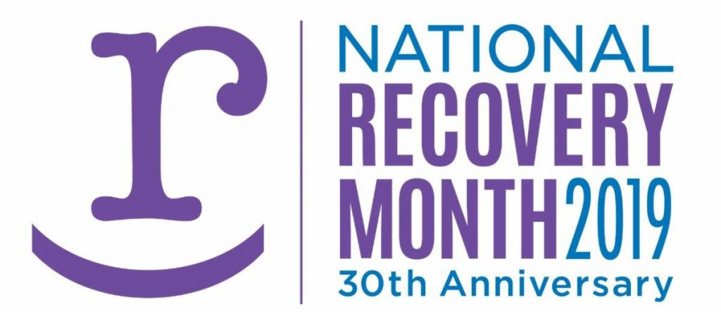 National Recovery Month 2019 logo