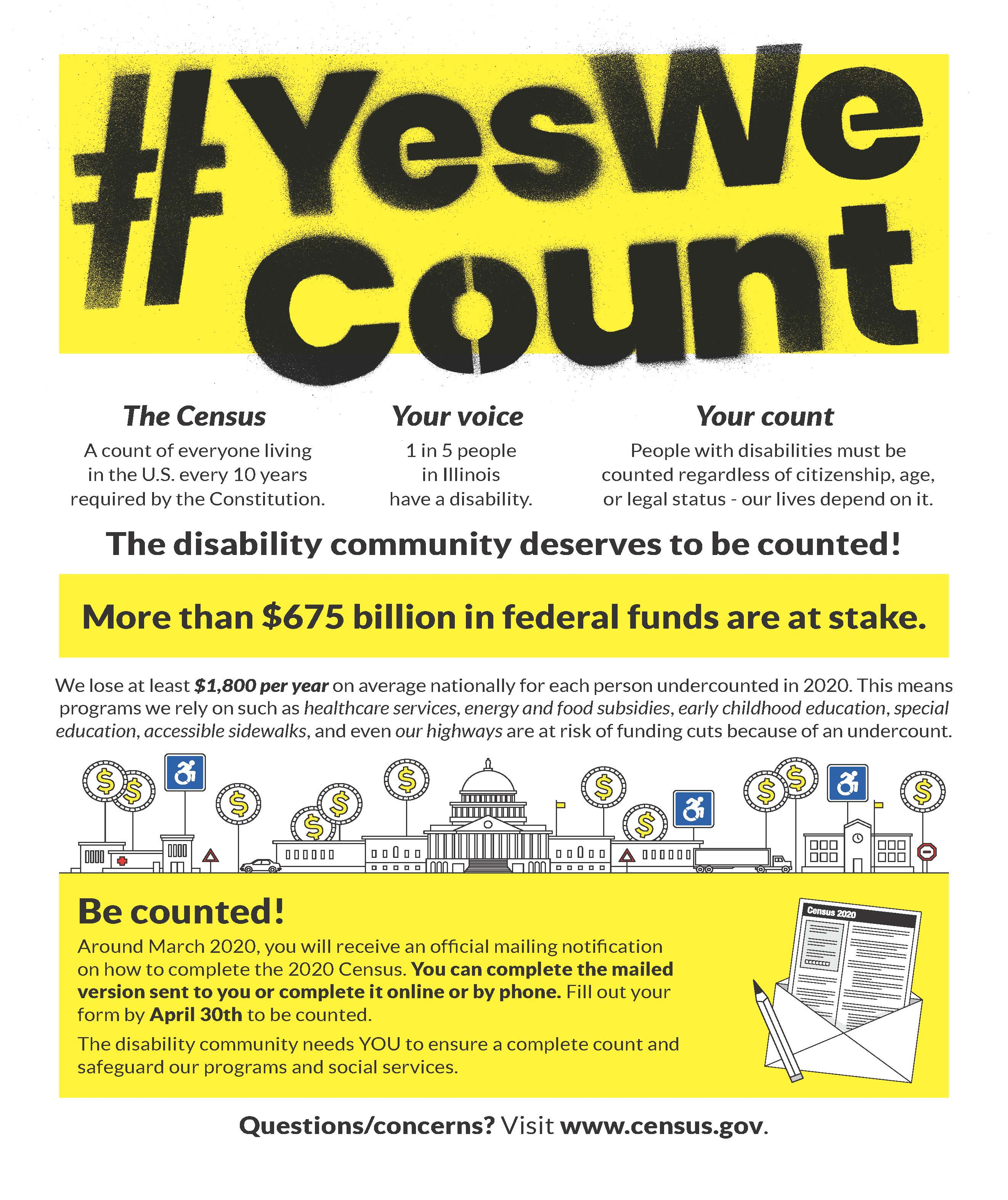 YesWeCountFlyer with 2020 Census information.