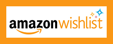 Logo for Amazon Wish List wish an orange border and colorful sparkling starts.